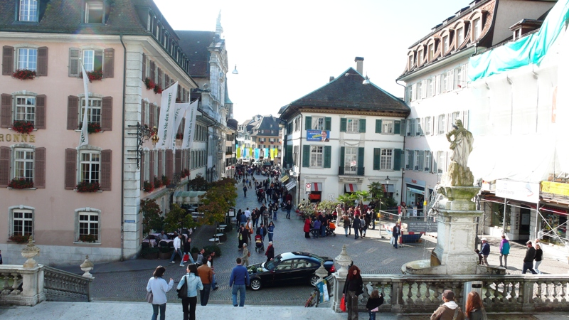 View from steps of St. Urs Cathedral, Solothurn