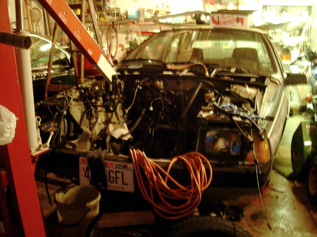 Renault Fuego Engine Swap   in my dad's garage   Spork