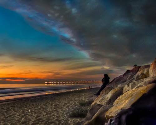 california ca sunset beach oceanside hdr abigfave