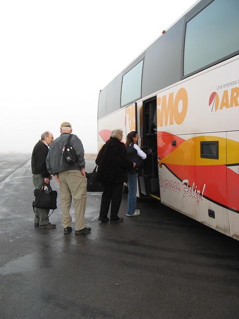 Boarding bus to Copper Canyon outside Juarez, Mexico