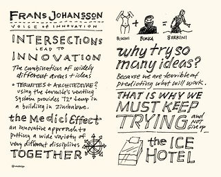Chick-Fil-A Leadercast Sketchnotes 19-20 - Frans Johansson | by Mike Rohde