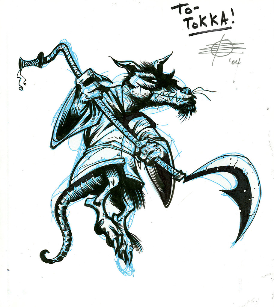 "Tales of the TMNT V. 2 # 3 // ""SPLINTER"" concept art by Rick Remender (( 2004 )) by tOkKa"