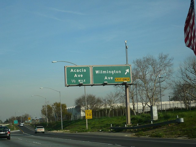 CA 91 Artesia Freeway Eastbound in Compton at Wilmington Ave