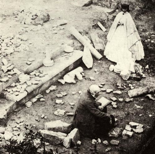 Chertsey Abbey excavations 1861 | by surreyarchaeology