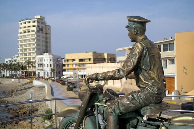 Monument for Pedro Indante in Mazatlan