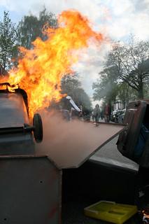 barrikade am 1. mai in hamburg