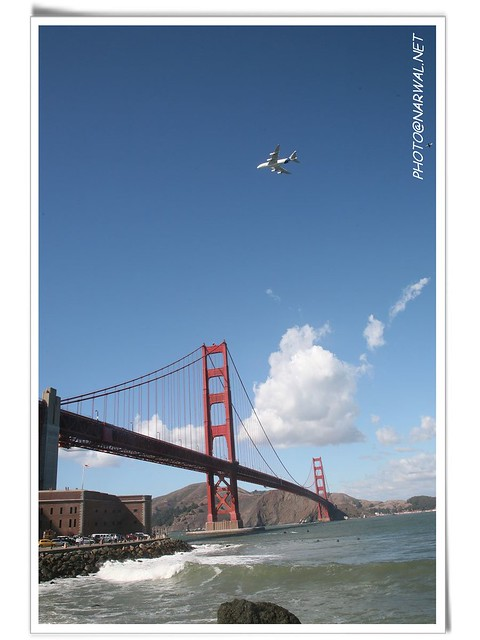 Airbus A380 Golden Gate Bridge