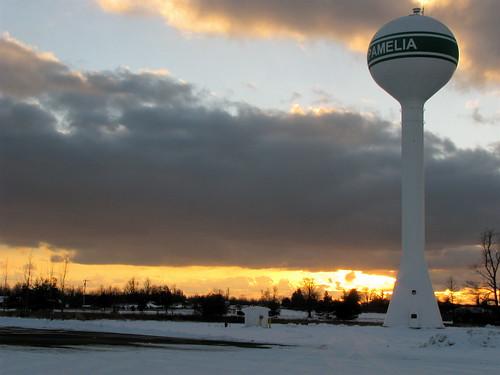 winter sunset wintersunset watertower pameliany pameliawatertower