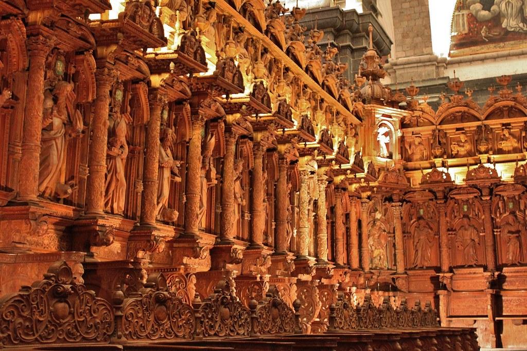 Cusco Catedral The Choir Silleria Del Coro Shows Rows O Flickr