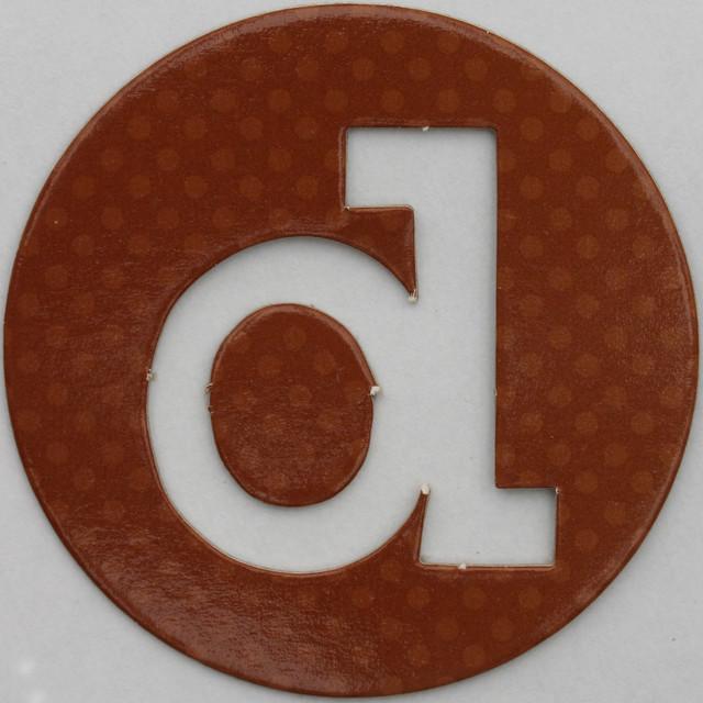 coloured card disc letter d