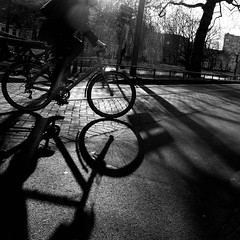 bicycle silhouette and shadow