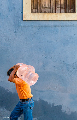 lugging drinking water up the narrow streets of Guanajuato | by Phil Marion (176 million views - THANKS)