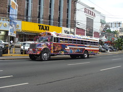 Pamama city bus with air brushing