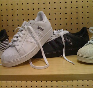 Bride and Groom sneakers at Adidas store | by MarkWallace