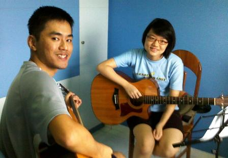 Private guitar lessons Singapore Wenqi