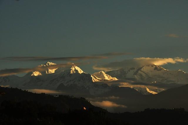 Kanchenjunga from Tadong - Rinchenpong during Sunrise