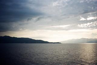 Sado Island from the sea