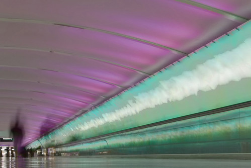 pink light people motion blur green colors underground moving airport northwest metro saveme3 deleteme10 detroit corridor tunnel terminal sidewalk walkway nwa dtw mcnamara curdled 18200mmf3556gvr d80 rtrr cminstyle 10to3