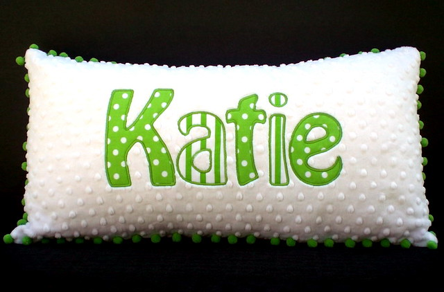 Applique Minky Pillows