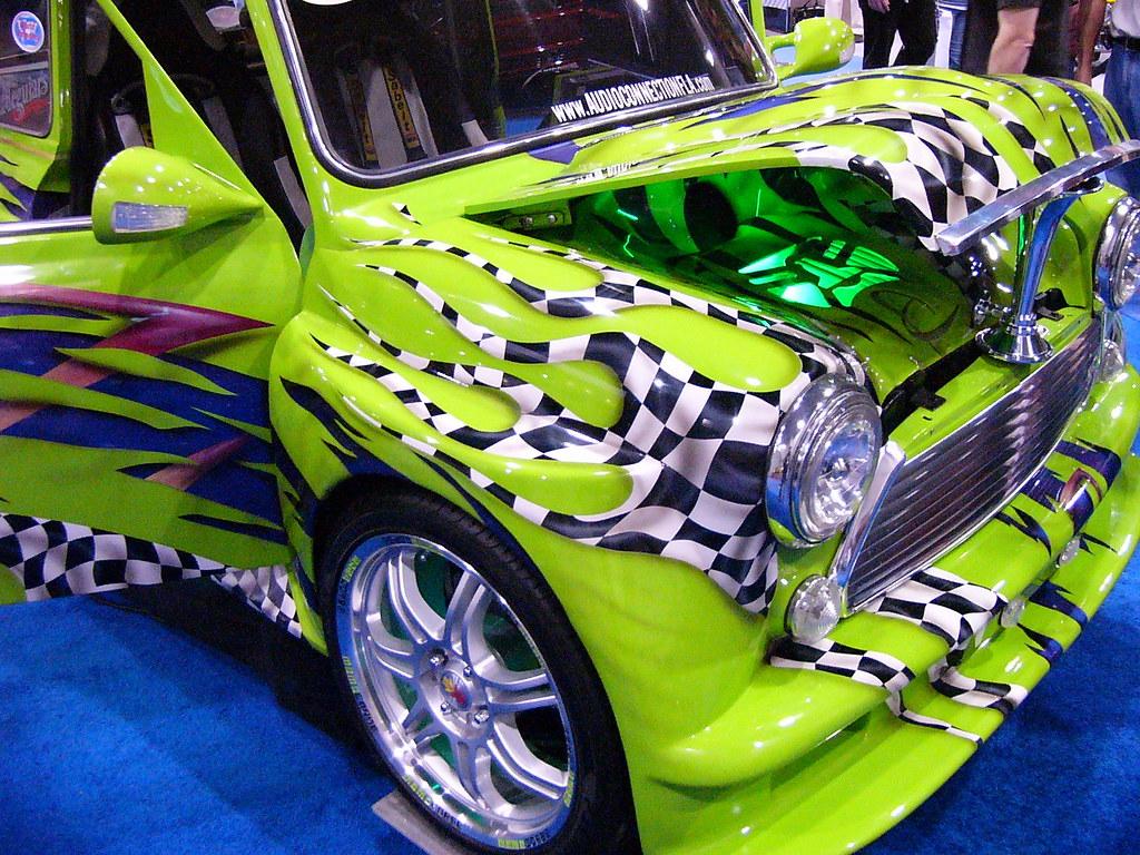 93/365: Lime Green Car Art