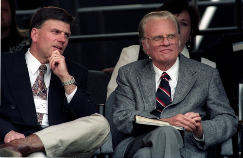 Billy Graham Franklin Graham Cleveland Stadium Ohio June 11,1994 | by Paul M Walsh