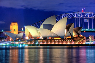 Sydney Opera House at night Close up HDR Sydney Australia | by Linh_rOm