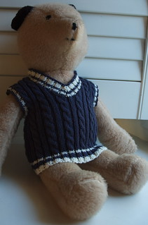 Bear in cable tank top | by amyherzogdesigns