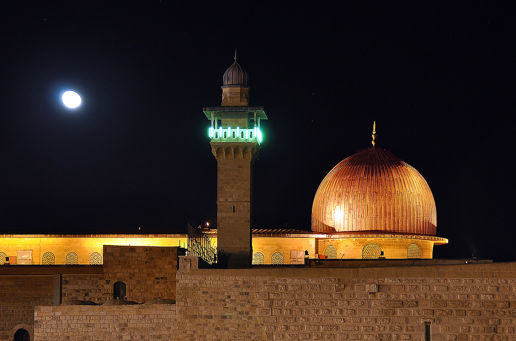 Al-Aqsa Mosque at night