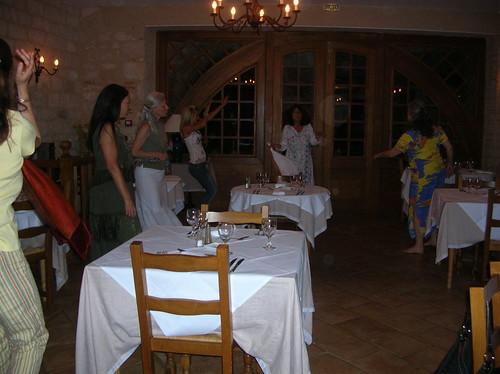 the women dance