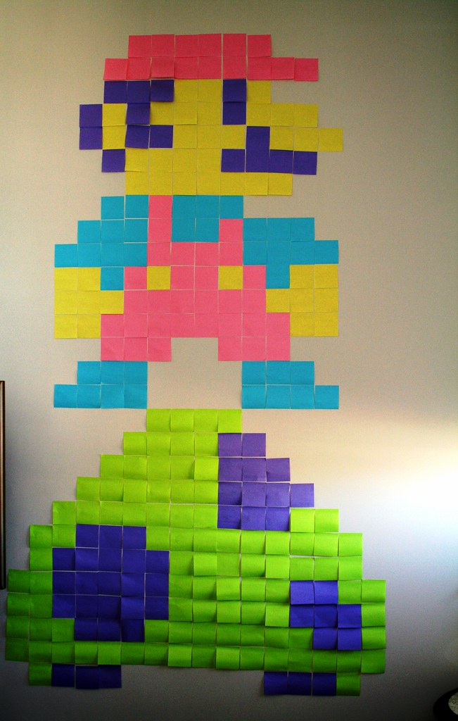Post It Pixel Mario Automatt Flickr