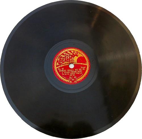 Sunburst -78rpm record label