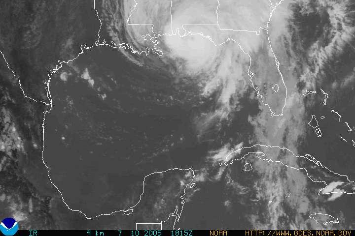 Hurricane Dennis latest position