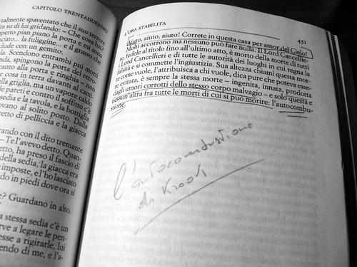 Charles Dickens, Casa desolata: la pagina dell'autocombustione di Mr Krook   by luiginter