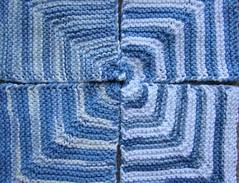 mitered squares blue