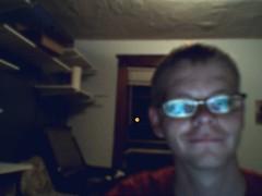 Michael på hans værelse i Ann Arbor