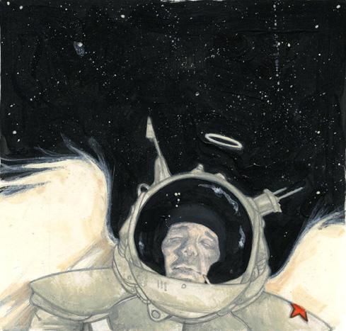 cosmonaut. color rough