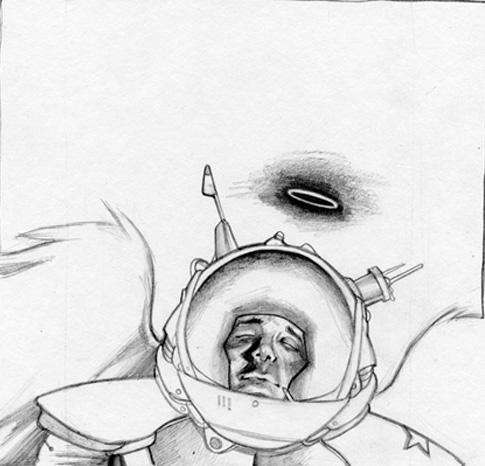 cosmonaut. pencils