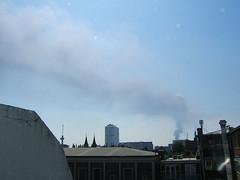 nasty smoke drifting over Rotterdam
