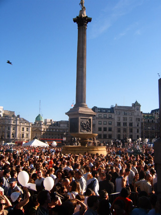 Trafalgar Square vigil for London Bombings