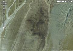 Jesus in Peruvian sands