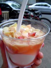 yogurt and mixed fruit