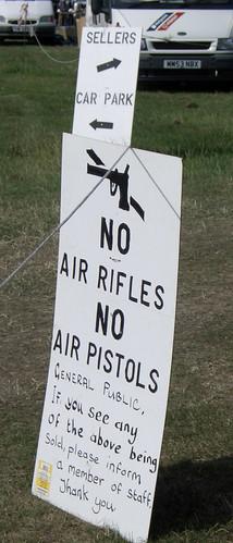No Air Rifles No Air Pistols