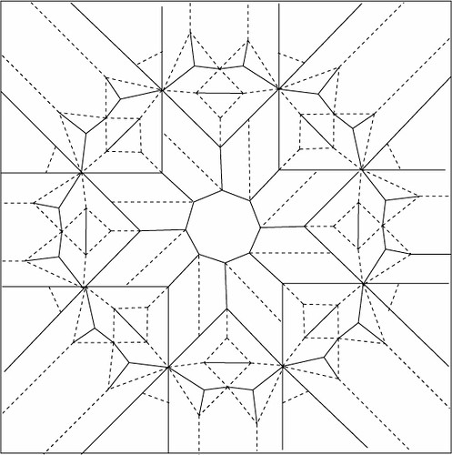 Octagonal Star Twist Draft Crease Pattern This Was A Reall… Flickr