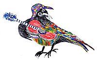 Crazy Crow logo by Susan Mumma