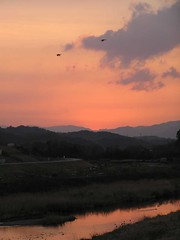 Nostalgic Sunset in Gokase River - Nobeoka, Miyazaki