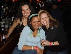 Jess, April, Lauren at Flip Cup