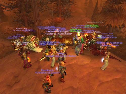 Versammlung des Raid auf Blightcaller