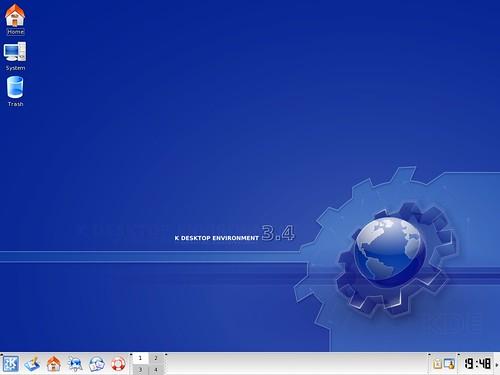 KDE 3.5 default desktop
