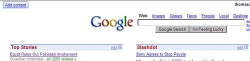 Google's Web Portal