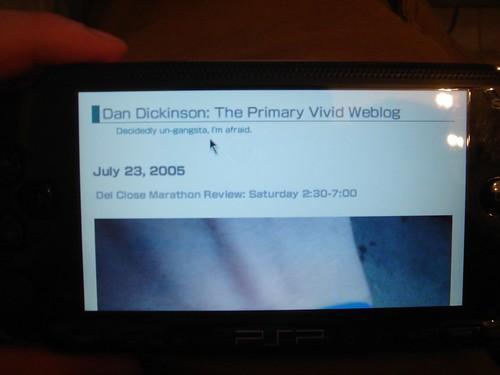 PSP 2.0 Browser